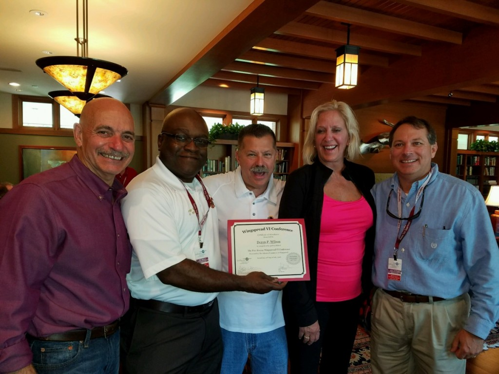 From left to right: Sal Cassano, Chief Wilson, Fire Chief Dennis Rubin, Fire Chief Rhoda Mae Kerr, President of International Association of Fire Chiefs, Fire Chief Larry Williams, President of Southeastern Division of the International Association of Fire Chiefs (SEAFC)