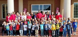 Ruth Hill Elementary students visited Smokey Road Middle School Thursday, during Read for the Record.